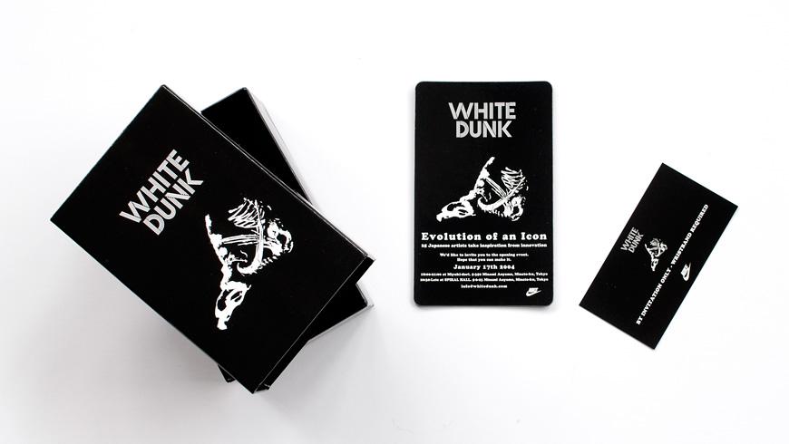 White Dunk Tokyo Invitation 