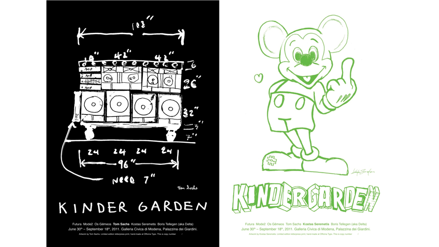 Kindergarten Typographic Posters, Tom Sachs and Kostas Seremetis|