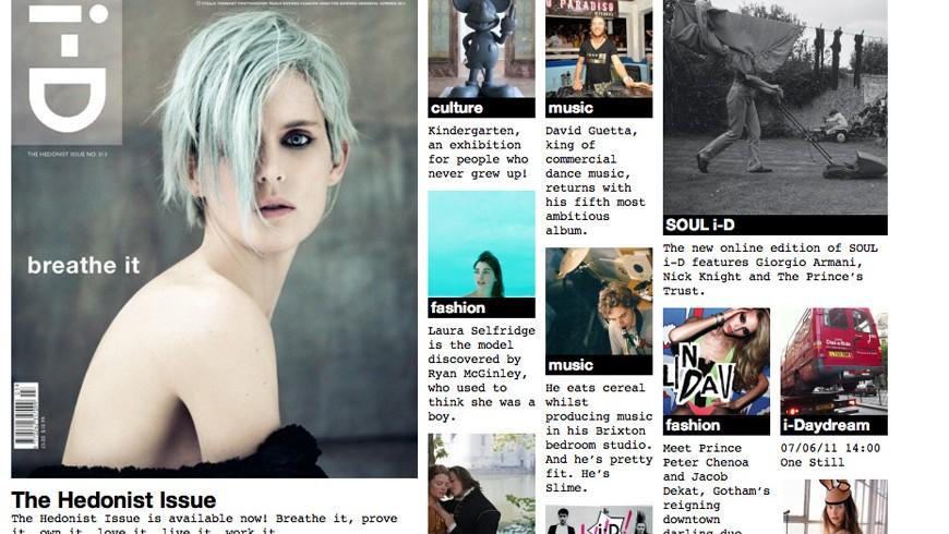 i-D Online Website|