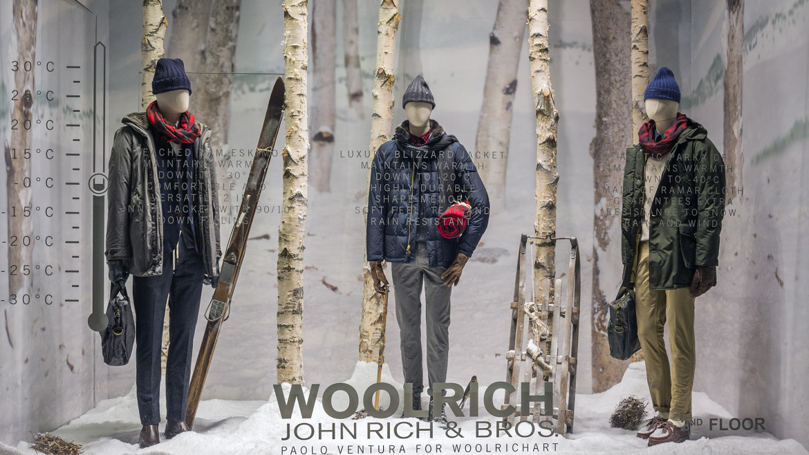 Woolrich FW15 Window Displays