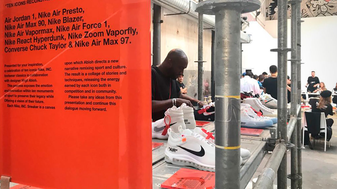 Try watching this video on www.youtube.com, or enable JavaScript if it is  disabled in your browser. Nike The Ten by Virgil Abloh