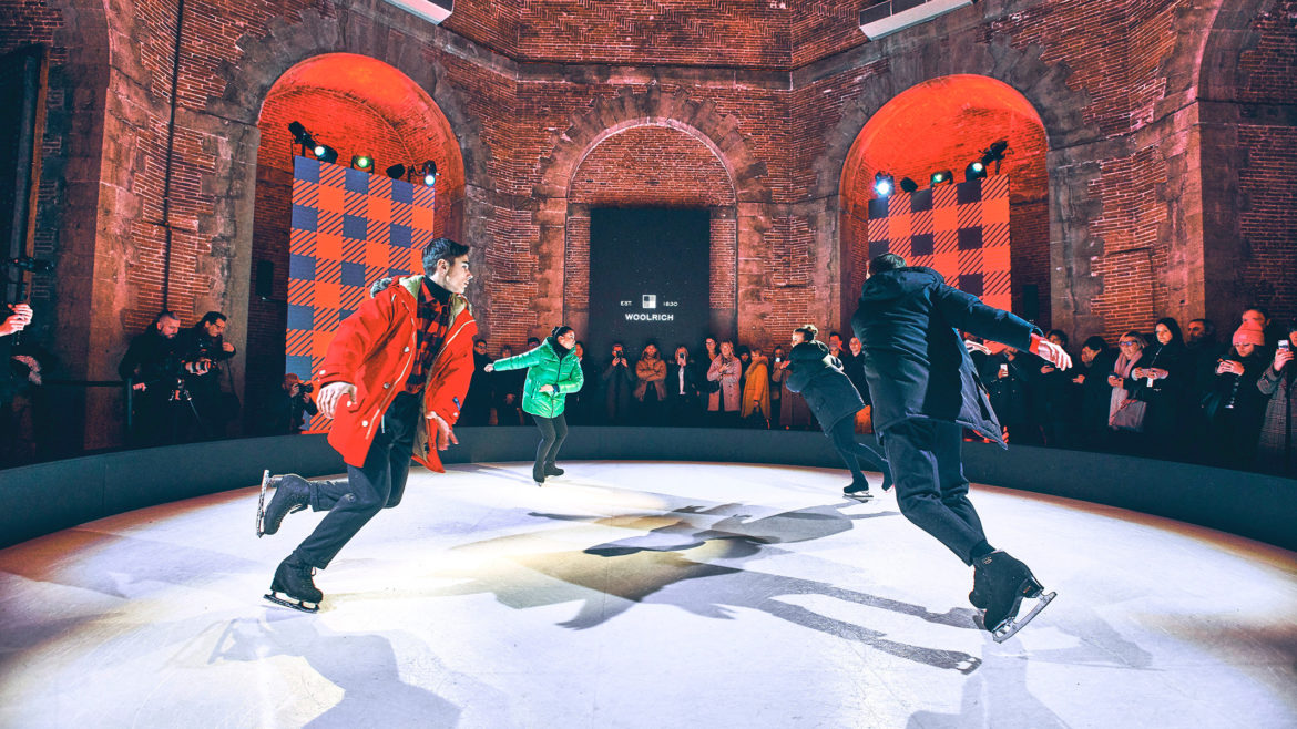 Woolrich at Pitti Uomo 2019: a show on ice